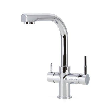 Three-way sink taps