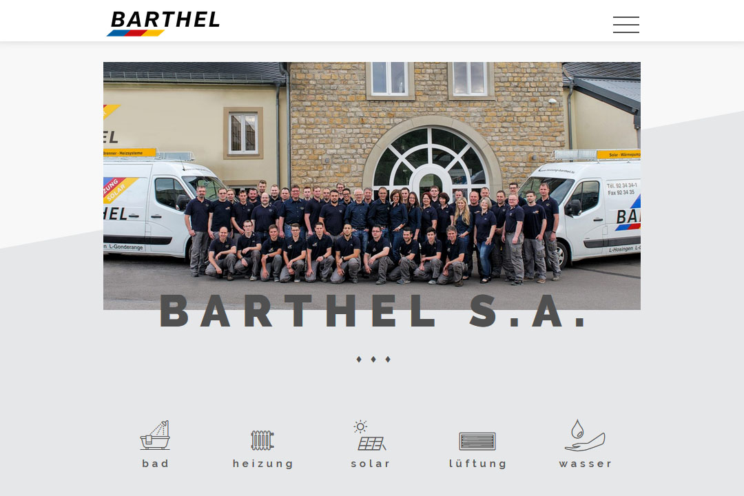 Plumbing and Heating Installer Barthel S.A.